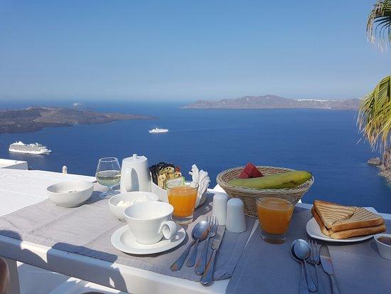 breakfast served on balcony