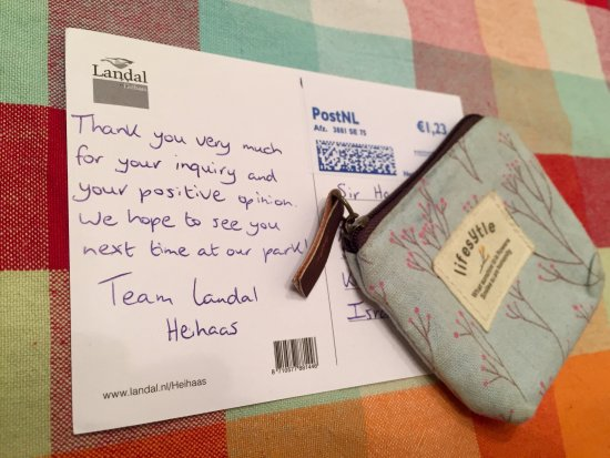 Putten, Países Bajos: So sweet! This postcard made me smile 3 weeks after our vacation ended. Thank you team Heihaas :