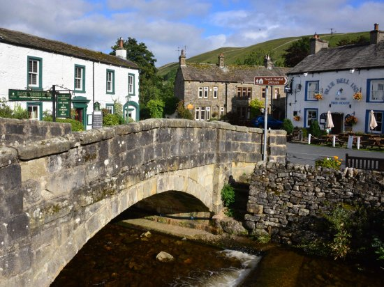 Bridge at Kettlewell, and two inns