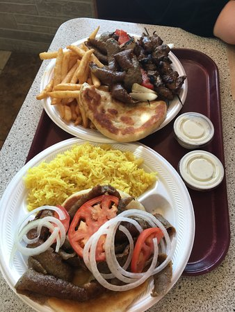 Wausau, WI: Mixed grill and the gyro