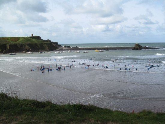 Bude Beach, popular even on a cool September day.