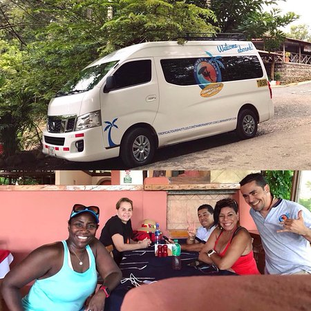 Tropical Tours Shuttles: Having fun with clients on a day tour