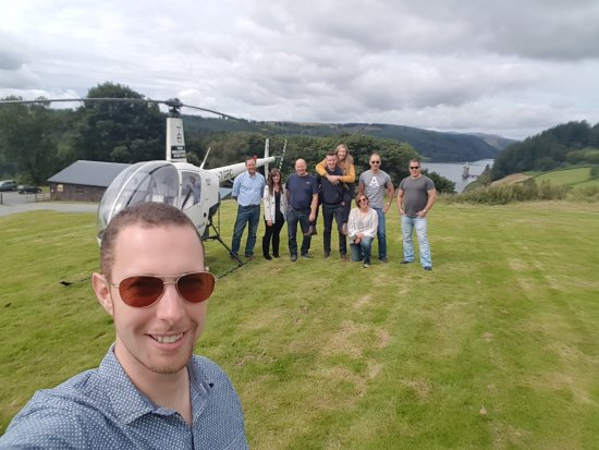 Leominster, UK: Instructors & students smiling on a recent fly out to Lake Vyrnwy Hotel