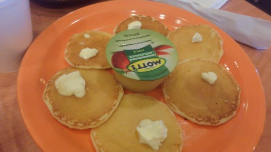 Milton, FL: Childs Pancake with applesauce