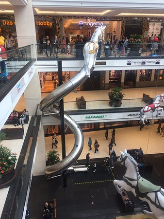 Mall Of Berlin Yes Its An Indoor Slide