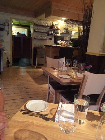 Salle à manger du restaurant Chez Saint-Pierre