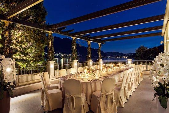 Moltrasio, Italia: Terrazza sala Manzoni