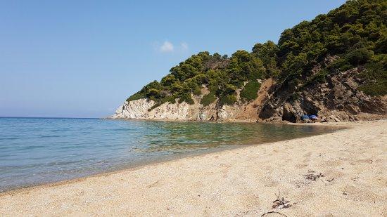 Megalos Aselinos Beach: La parte destra della spiaggia