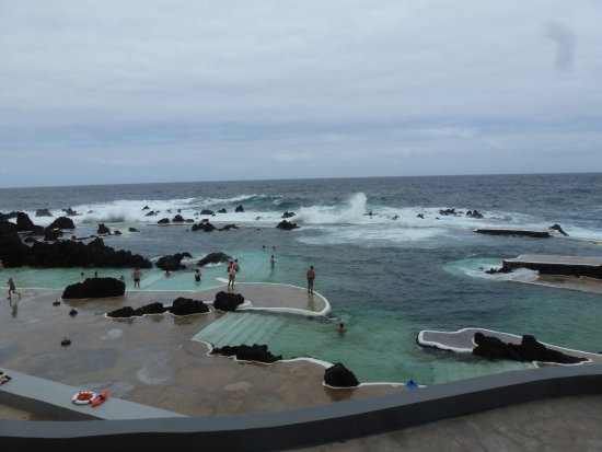 Porto Moniz Natural Swimming Pools: The lido view