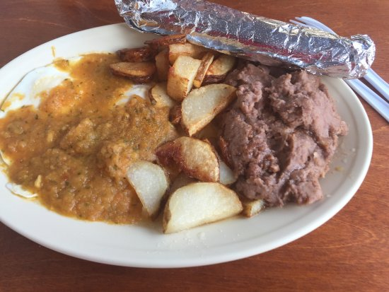 La Villita Cafe: you know you are in texas when refried beans are for breakfast.