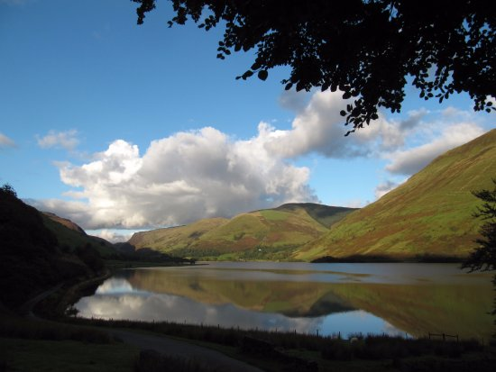 Tal-y-llyn, UK: A view of the lake from the garden on another day