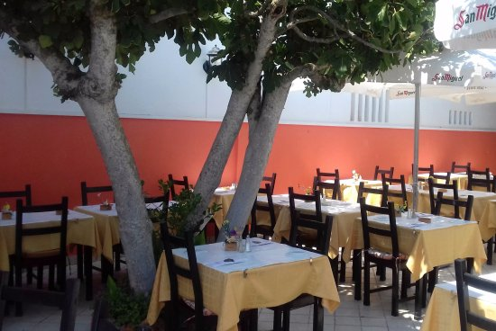 Les trois Couronnes : Terrace dining area