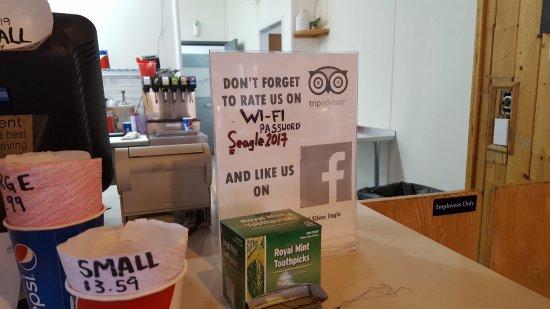 Stan's Burger Shack : counter - wifi password