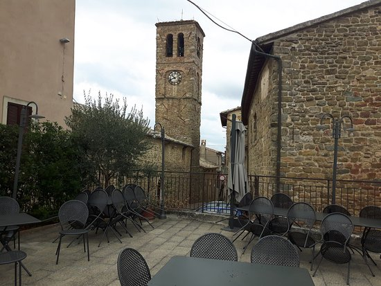 Cannara, Włochy: terrazza esterna del ristorante