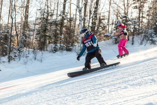 Carrabassett Valley, ME: Kids on boards