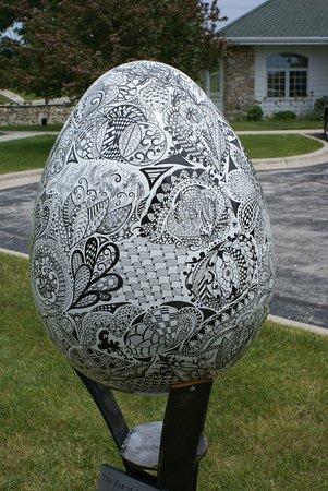 """Egg Harbor, Ουισκόνσιν: Eine der zahlreichen """"Eier"""" im Ort"""