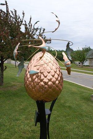 """Egg Harbor, WI: Eine der zahlreichen """"Eier"""" im Ort"""
