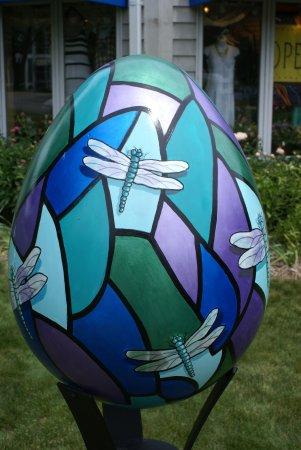 """Egg Harbor, WI : Eine der zahlreichen """"Eier"""" im Ort"""