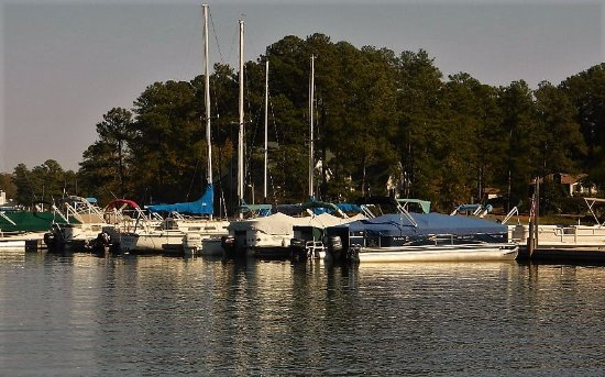 Leesville, Carolina del Sur: Hollow Creek Marina on the south shore of Lake Murray on Hwy 378