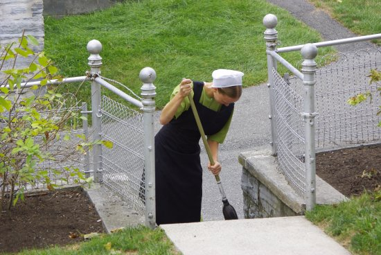 Strasburg, Pensilvanya: tipico vestito delle donzelle