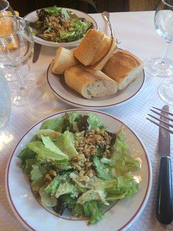 Le Relais de Venise: starter salad