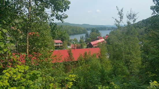 Auberge du Lac Morency : view from balcony