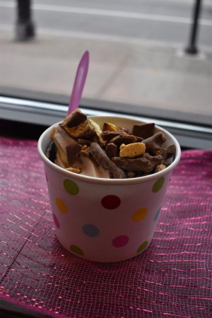 Kenmore, Estado de Nueva York: Fro-yo with sponge candy on top