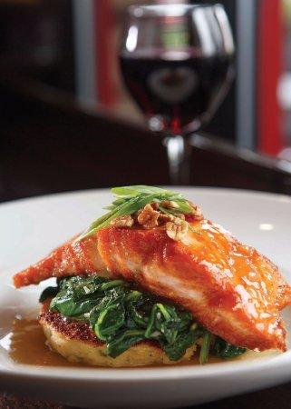 Apex, NC: Cider & Whiskey Glazed Salmon
