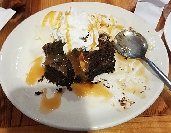 Osakis, MN: The caramel brownie dessert is pretty delicious