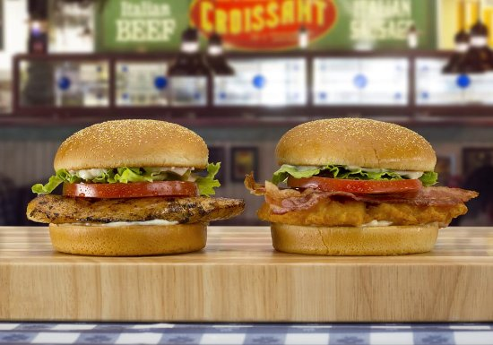 Fishers, IN: Char-Broiled Chicken Sandwich and Chicken Club