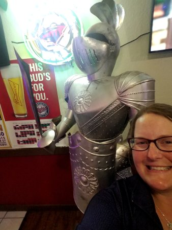 "Osakis, MN: One of the ""knights"" in the restaurant!"