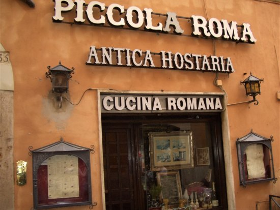 Antica Osteria Piccola Roma : Her er det!