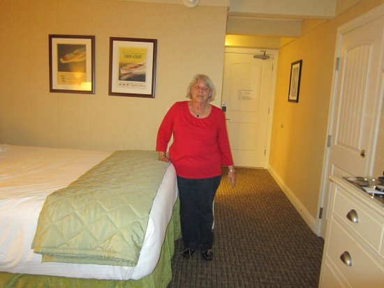 Fontana, WI: Really should have had a step stool to get into bed!