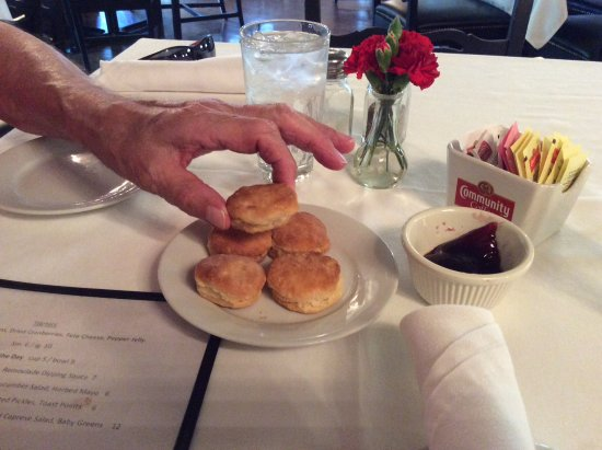 Carriage House Restaurant: Known for their tiny biscuits!