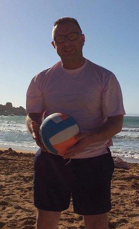 Mgarr, Malta: The old fella playing ball.