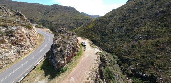 Franschhoek, Sydafrika: Safe parking along the road