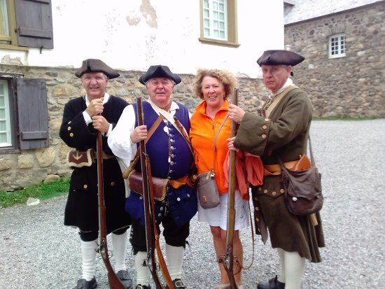Louisbourg, Canada : With the lads!