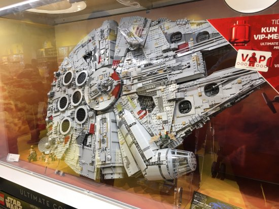 The newest Millennium Falcon. It came out just four days ago ...