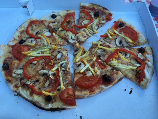 Seix, ฝรั่งเศส: Veggie pizza