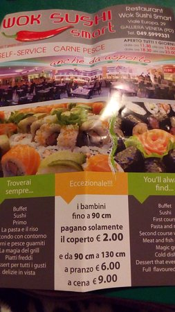 Galliera Veneta, Italy: Wok Sushi Smart