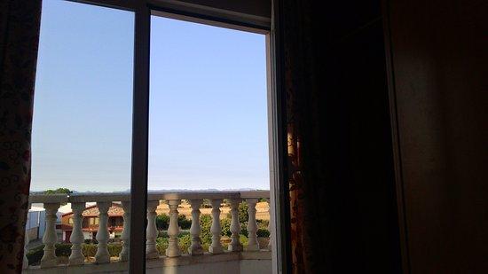 Hotel Camino Real: le balcon de la chambre.