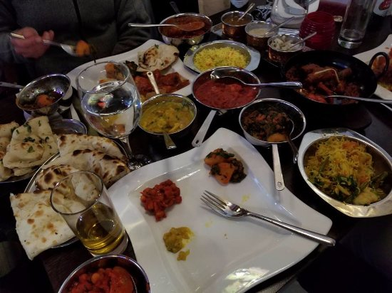 Wedmore, UK: This is the meal we three ordered -- a feast for royalty!