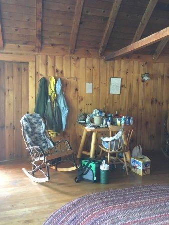 Jackman, เมน: hiking gear waiting for tomorrow