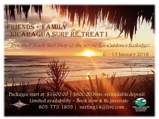 Shell Beach, CA: SBSS Friends + Family Nicaragua Surf Re.Treats 2018