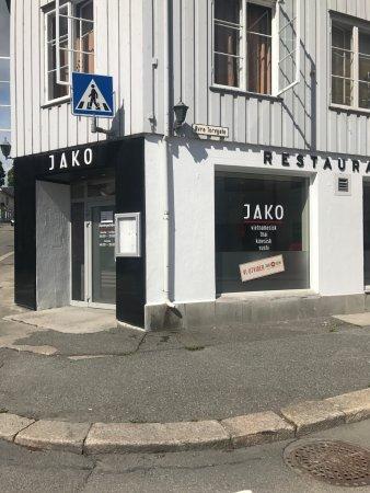 Gjovik Municipality, Norway: Restaurant inngang sett fra Øvre Torvgt