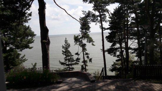 Nida, Lituania: uitzicht vanuit het vakantiehuis
