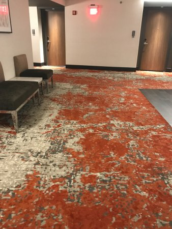 Hampton Inn and Suites Columbus Downtown: Interesting carpet in hallways (I really like it)