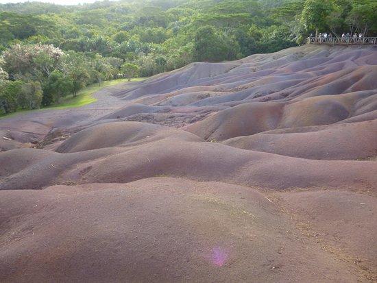 Chamarel: coloured earth