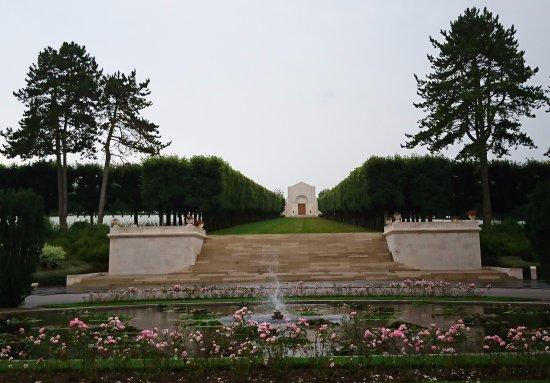 American Cemetery: Vue depuis le cheminement central