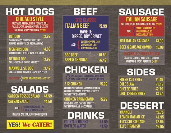 Freeport, Ιλινόις: CARRYOUT MENU